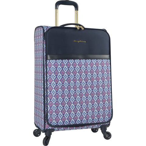 Tommy Bahama Lightweight Spinner Luggage - Expandable Suitcases for Men and Travel with Rolling Wheels, Pink/Blue