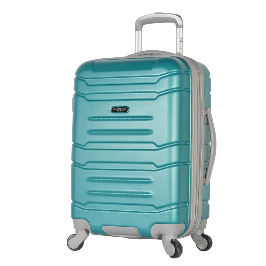 "Olympia Denmark 21"" Carry-on Spinner, Teal"