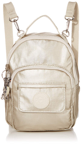 Kipling womens Alber 3-In-1 Convertible Mini Backpack, cloud Metal, One Size