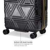 Badgley Mischka Contour Hard Expandable Spinner Carry-on Suitcase (Black)