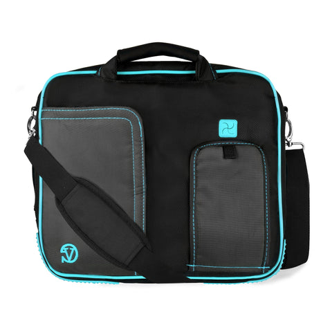 VanGoddy Pindar Messenger Carrying Bag for HP Pro Tablet 610 G1 10.1 inch, HP Pro Slate 10 EE G1 10.1 inch, HP Pro Tablet 10 EE G1 10.1 inch Tablets (Aqua)