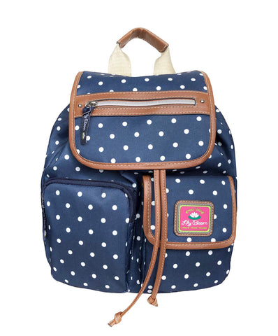 Lily Bloom Riley Backpack Polka Dot Navy