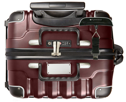 Bundle - 2 items: VinGardeValise 12 Bottle Wine Travel Suitcase with Personalizable nameplate, FlyWithWine Digital Luggage Scale - Burgundy