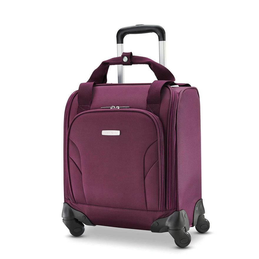 Samsonite Underseat Spinner with USB Port Carry-On Luggage, Purple, One Size