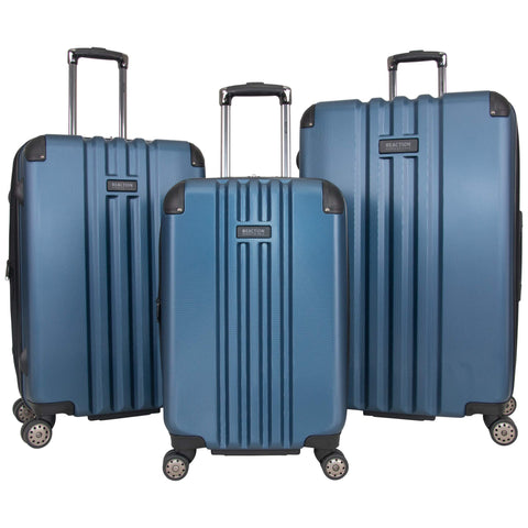"Kenneth Cole Reaction Reverb Hardside 8-Wheel 3-Piece Spinner Luggage Set: 20"" Carry-on, 25"", 29"", Ice Blue"
