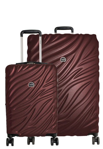 Delsey Paris Alexis 2-PC Set | Carry-On & 29-Inch Expandable Trolley (Burgundy)