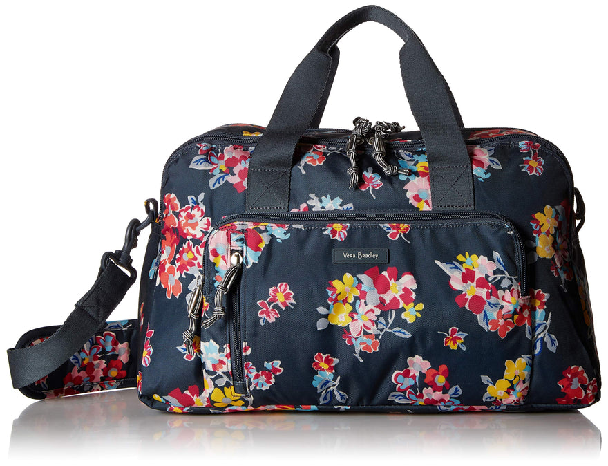 Vera Bradley Lighten Up Compact Weekender, Tossed Posies