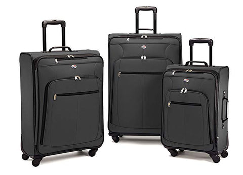 American Tourister At Pops Plus 3 Piece Nested Set, charcoal, One Size