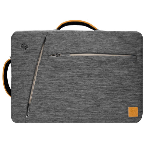 Vangoddy Multicompartment Grey Slate Briefcase for 10inch Dell Laptop, Tablet, Notebook