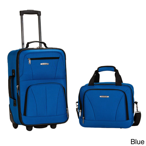 Rockland New Generation 2-Piece Lightweight Carry-On Softsided Luggage Set Blue