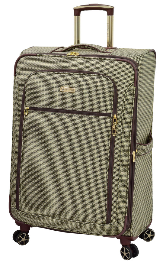 "London Fog Softside 28"" Spinner, Tan Square Jacquard"