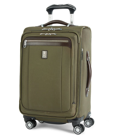 Travelpro Platinum Magna 2 Carry-On Expandable Spinner Suiter Suitcase, 21-in., Olive