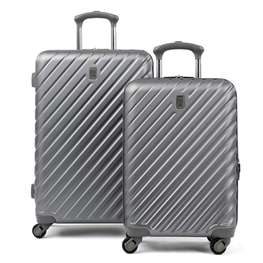 "Citadel Deluxe 20"" and 24"" Hardside Spinner Luggage Set by Travelpro, Gun Metal Gray"
