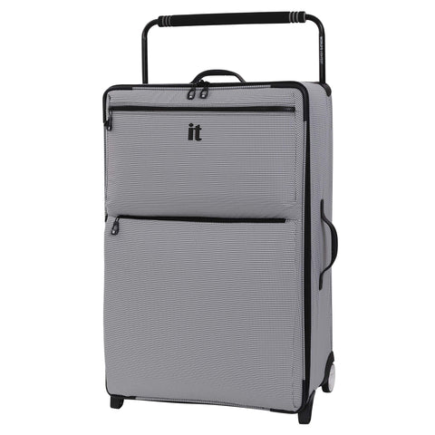 "IT Luggage 32.7"" World's Lightest Los Angeles 2 Wheel, Black/White"