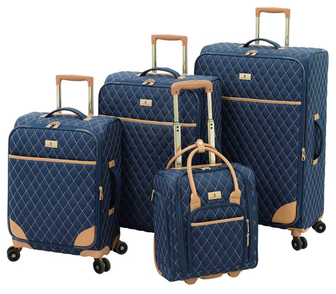 London Fog Queensbury 4 Piece Spinner Set, Navy
