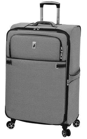 "London Fog Softside 28"" Spinner, Black White Houndstooth"