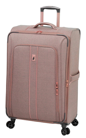 "London Fog Newcastle 28"" 8-Wheel Spinner, Rose Charcoal Herringbone"