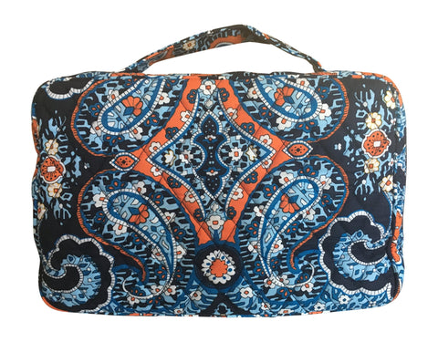 Vera Bradley Blush & Brush Makeup Case (Marrakesh with solid blue lining)