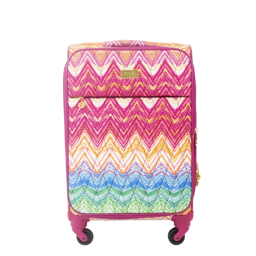 Macbeth Collection Women's Chevron 21 inch Spinner Luggage, Purple