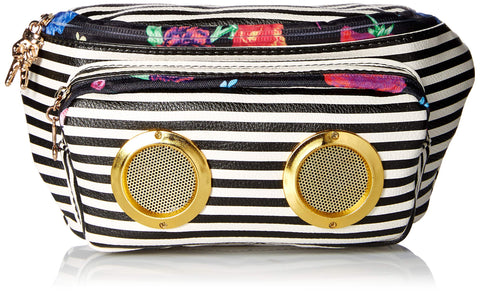 Betsey Johnson Speak Up Belt Bag, Stripe