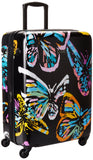 Vera Bradley Hardside Large Spinner, Butterfly Flutter Black