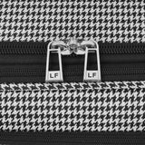 "London Fog Cambridge II 44"" Wheeled Garment Bag, Black White Houndstooth"