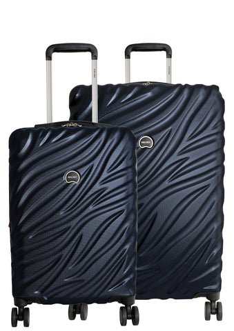 Delsey Paris Alexis 2-PC Set | Carry-On & 25-Inch Expandable Trolley (Navy Blue)