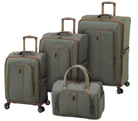London Fog Newcastle 4 Piece Luggage Set, Slate Bronze
