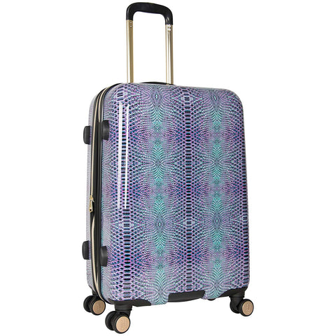 "Aimee Kestenberg Women's Ivy 24"" Hardside Expandable 8-Wheel Spinner Checked Luggage, Marine Python"