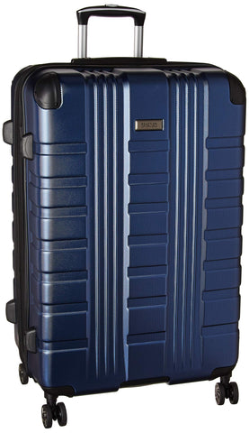 "Kenneth Cole Reaction Scott's Corner 28"" Lightweight Hardside Expandable 8-Wheel Spinner Checked Suitcase with TSA Lock, Navy"