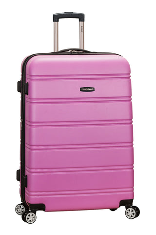 "Rockland Abs 28"" Expandable Spinner Luggage, Pink"