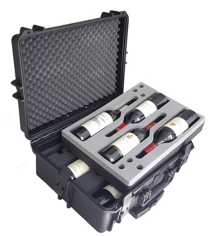Carrying Case for Wine - Bottles - Winecase - Wheeled Case - Wine transport - Wine Agent - Bottle Wine Carrier - hard case