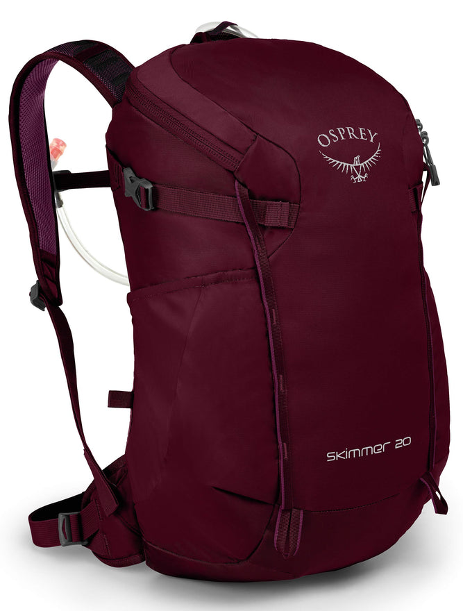 Osprey Packs Skimmer 20 Women's Hydration Pack, Plum Red, One Size
