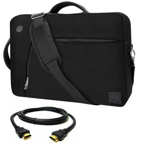 VanGoddy Black Slate 3-in-1 Hybrid Laptop Bag for Alienware 13 Gaming Laptop + 12FT HDMI Cable