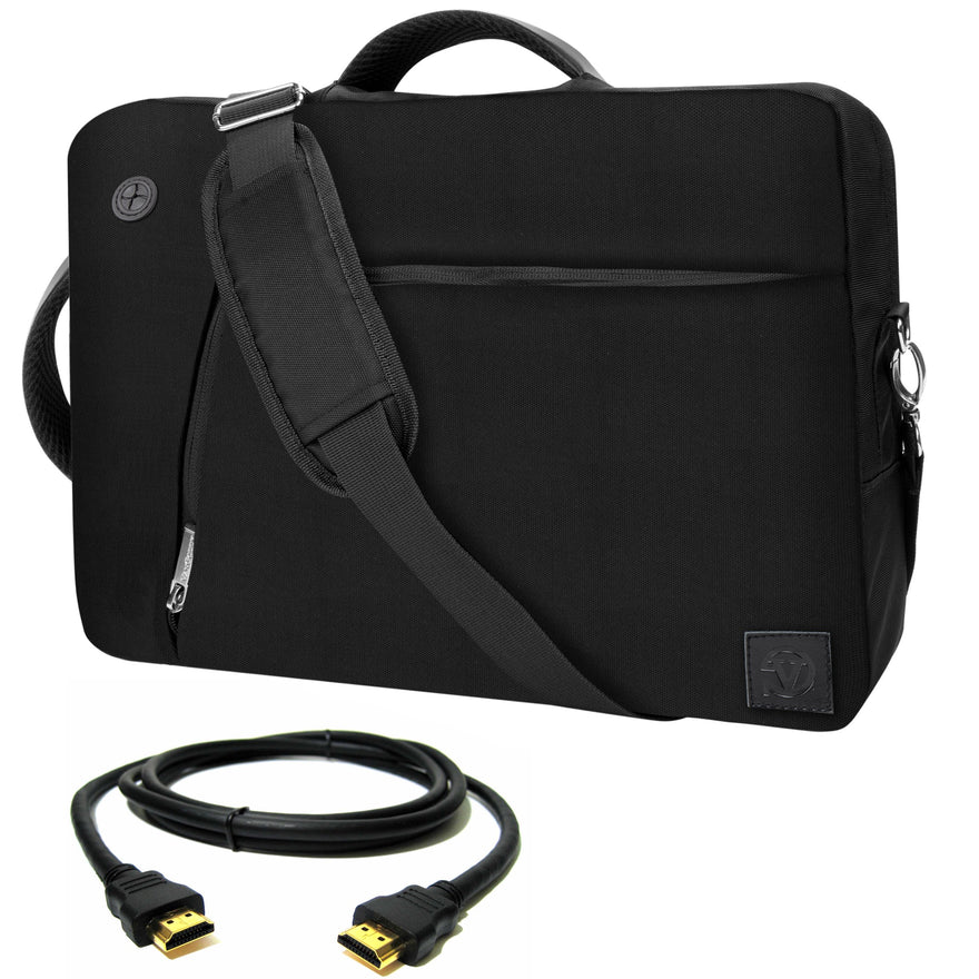 "VanGoddy Black Slate 3-in-1 Hybrid Laptop Bag for Acer Aspire Series/ChromeBook Series / 13.3"" Laptops + 12FT HDMI Cable"