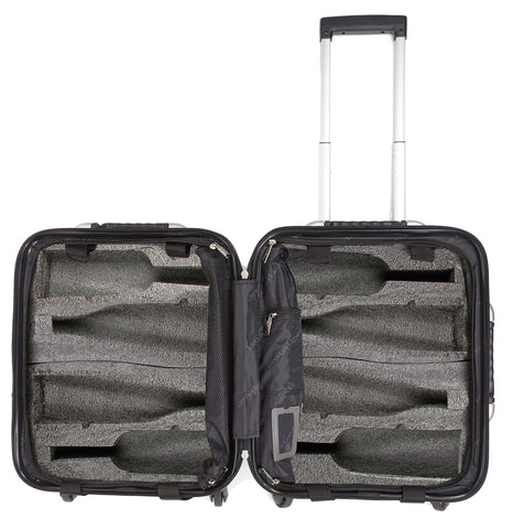 VinGardeValise - Up to 8 Bottles & All Purpose Wine Travel Suitcase (Black)