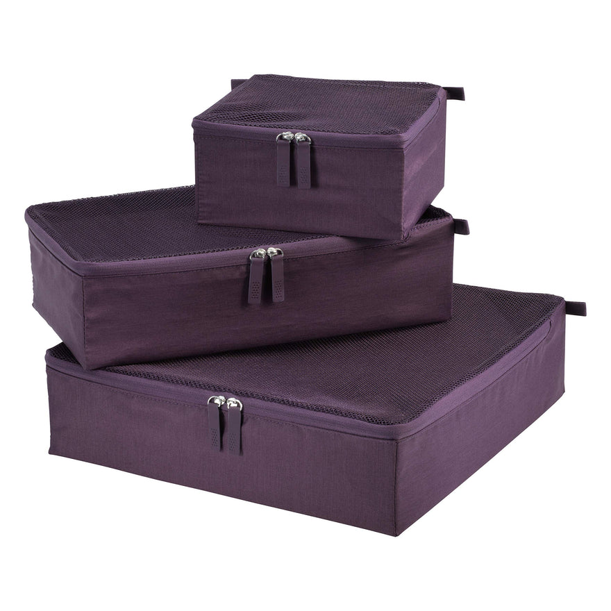 Ricardo Beverly Hills Essentials 2.0 3pc Packing Cubes (Aubergine)