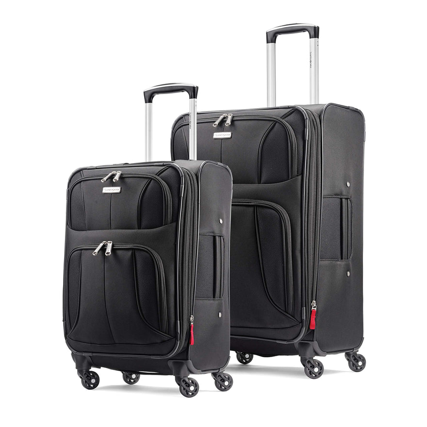 Samsonite Aspire xLite Expandable Softside 2-Piece Luggage Set (20/29) with Spinner Wheels, Black