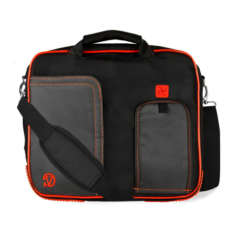 Red Pindar Messenger Bag for HP SlateBook x2, HP Omni 10, HP Slate 10 HD Tablets