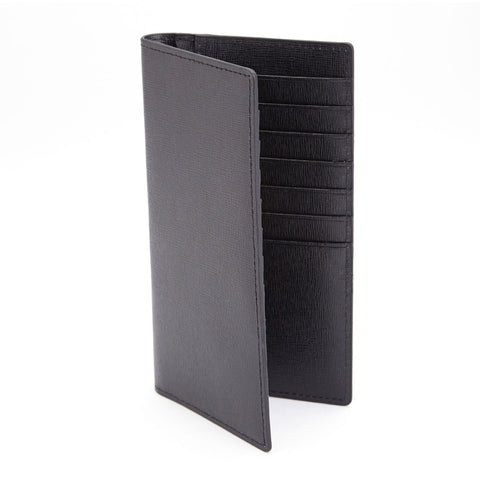 Royce Leather RFID Bifold Credit Card Wallet in Italian Saffiano