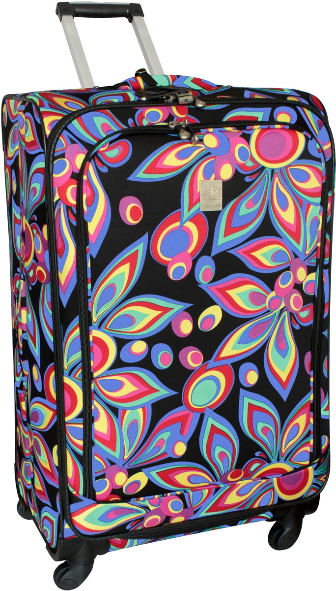 Jenni Chan Wild Flowers 28in Upright Spinner - Luggage Factory