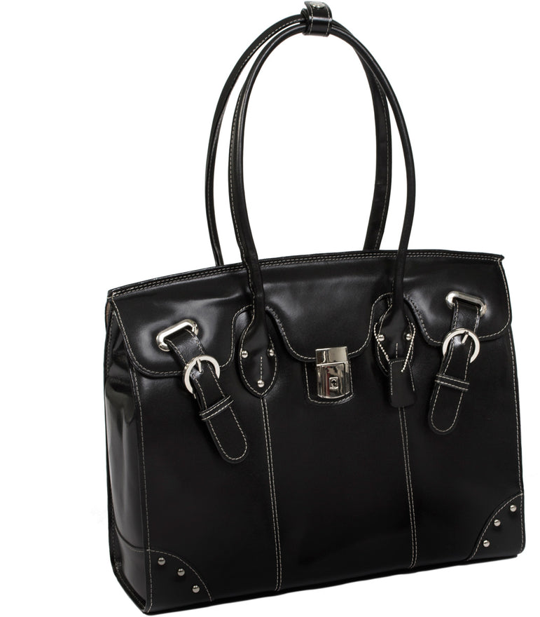 McKlein W Series Leclaire Leather Ladies Laptop Tote