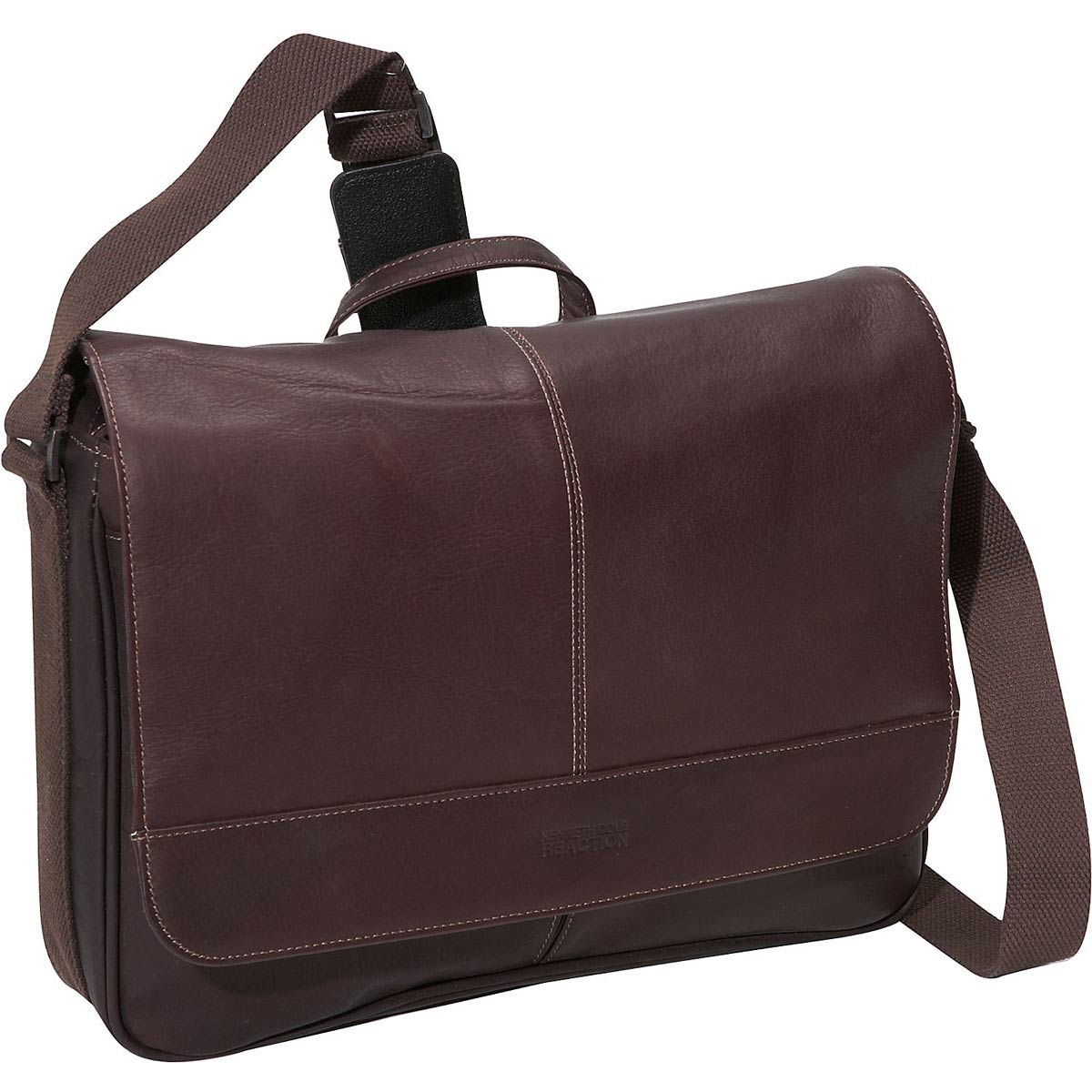 "Kenneth Cole Reaction ""Risky Business"" Single Gusset Flapover Messenger Bag"