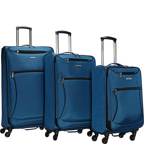 Leisure Luggage Vector Featherweights 360 3 Piece Luggage Set