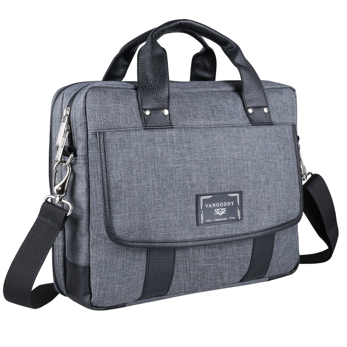 "Vangoddy Chrono Grey Compact Tote Messenger Bag Briefcase for Microsoft Surface Book | Surface Pro Series 12"" 13.5"""