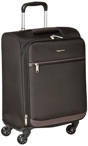 AmazonBasics Softside Carry-On Spinner Luggage Suitcase - 21 Inch, Black