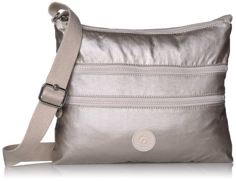 Kipling Women's Alvar Crossbody Bag, cloud Metal, One Size