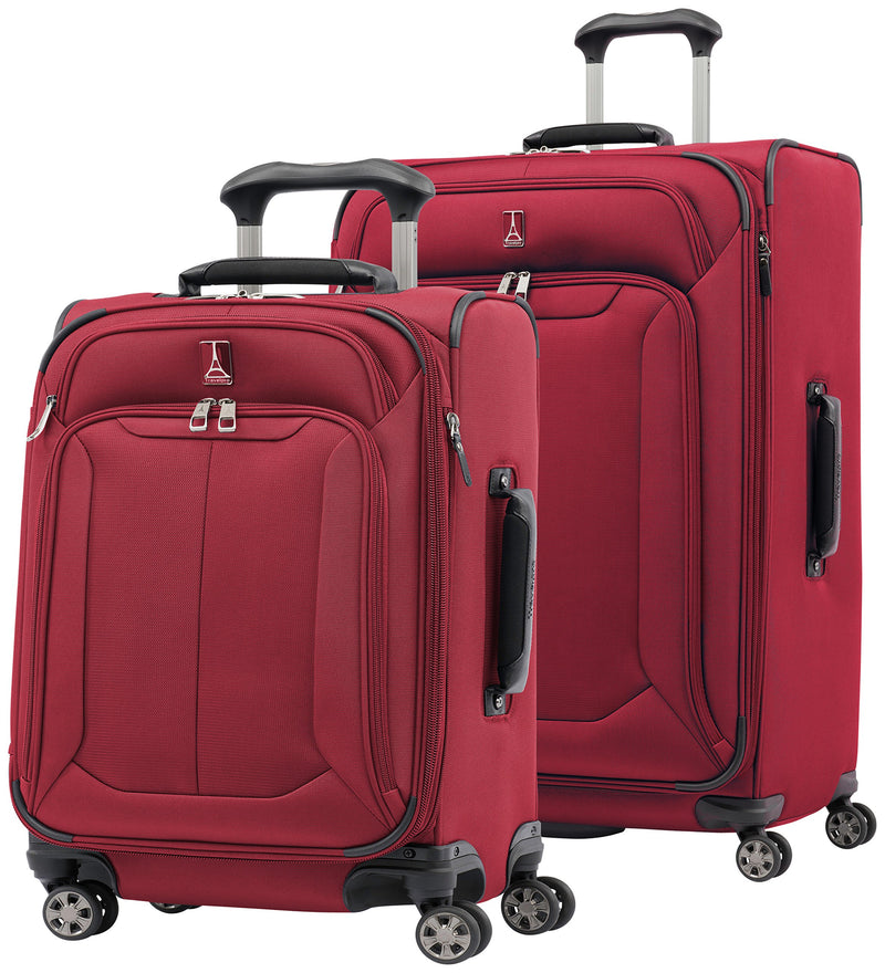"Travelpro Skypro Lite 2-Piece Expandable 8-Wheel Luggage Spinner Set: 29"" and 21"" (Merlot)"