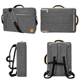 VanGoddy Slate Gray Convertible Laptop Bag with HDMI Cable, USB Hub, Mouse for Razer Blade Stealth 13