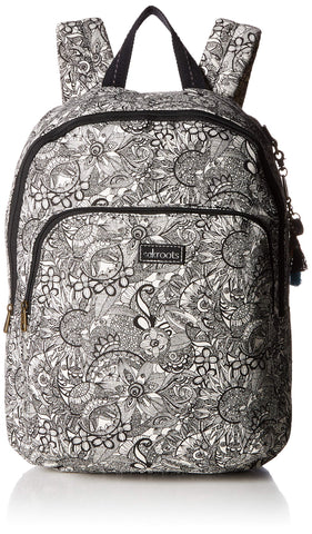 Sakroots Unisex-adults Artist Circle Medium Backpack, Black/White Spirit Desert